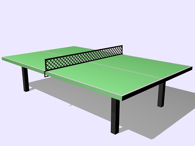 Green ping pong table 3d rendering
