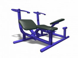 Outdoor fitness playground equipment 3d model preview