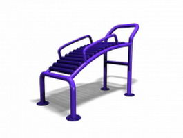 Outdoor park exercise equipment 3d model preview