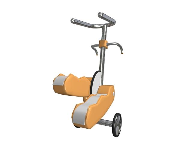Exercise stepper machine 3d rendering