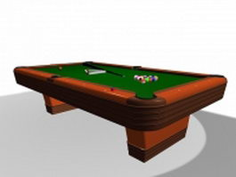 Billiards pool table equipment 3d preview