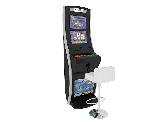 Gambling slot machine 3d rendering