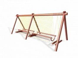 Garden climbing frame 3d model preview