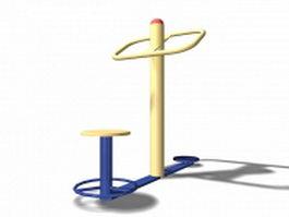 Urban park equipment 3d model preview
