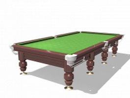 Full size snooker table 3d preview