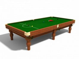 Snooker table with balls 3d preview
