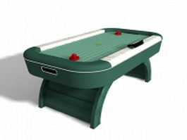 Air hockey table 3d preview