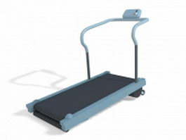 Treadmill exercise machine 3d preview
