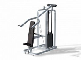 Lat pulldown equipment 3d preview