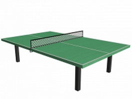 Green table tennis 3d preview