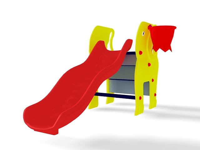 Elephant slide 3d rendering