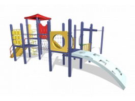 Outdoor playset equipment 3d preview