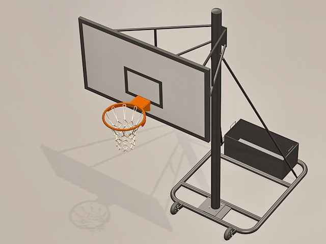 Basketball equipment goal 3d rendering