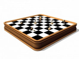 Antique chess sets 3d preview