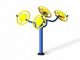Arm exercise equipment wheel 3d preview