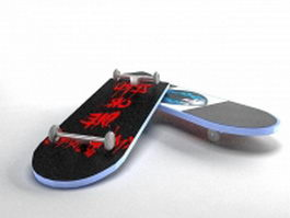 Cool skateboard 3d preview