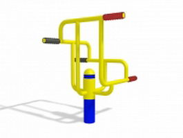 Outdoor park exercise equipment 3d preview
