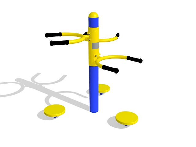 Waist twister exercise equipment 3d rendering