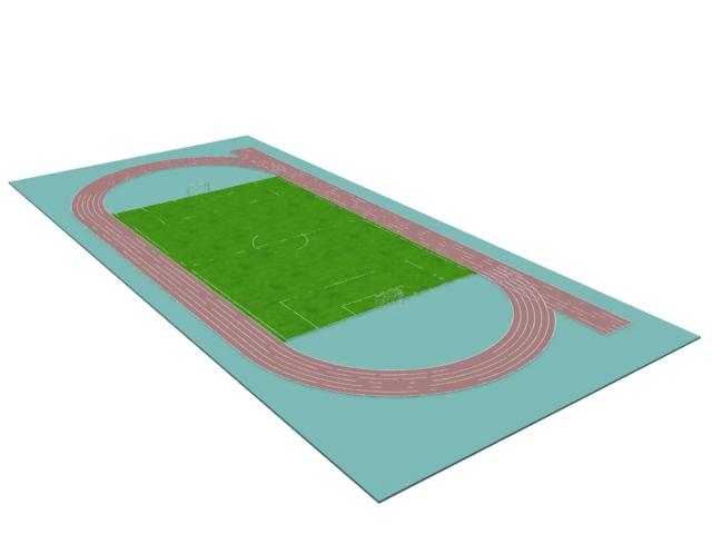 Soccer field 3d rendering