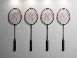 Badminton racquets 3d preview