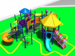 Playground amusement park 3d preview