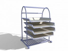 Document tray file holder 3d preview