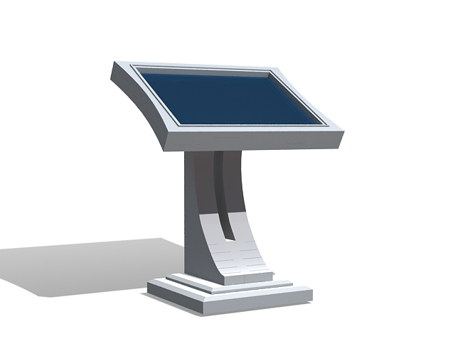 Computer kiosk stand 3d rendering