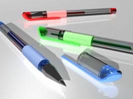 Gel pens 3d preview