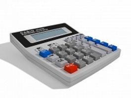 Casio desktop calculator 3d preview