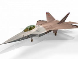 Lockheed YF-22 fighter aircraft 3d preview