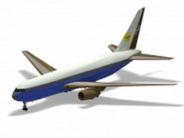Boeing 767 airliner 3d preview