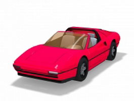 Red convertible sports car 3d preview