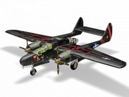 P-61 Black Widow night fighter 3d preview