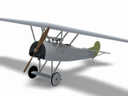 Fokker D7 fighter aircraft 3d preview