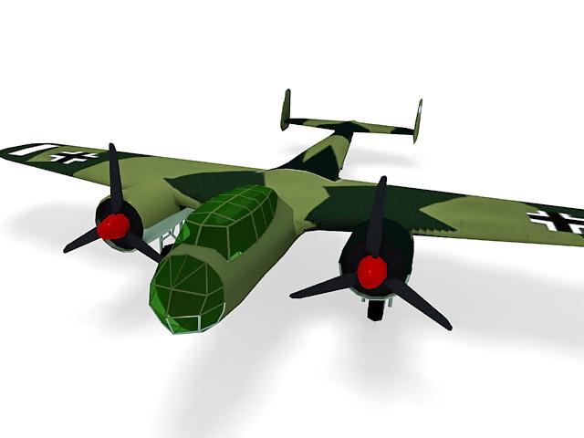 Dornier Do 17Z bomber 3d rendering