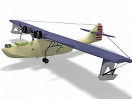 PBY Catalina amphibious aircraft 3d preview