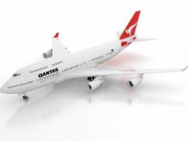 Boeing 747-400 3d model preview