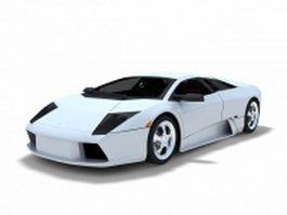 Lamborghini Aventador sports car 3d model preview