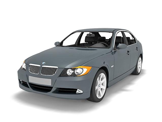 Mercedes luxury sedan 3d rendering
