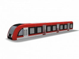 Metro rail car 3d preview