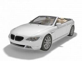 BMW Convertible sports car 3d model preview