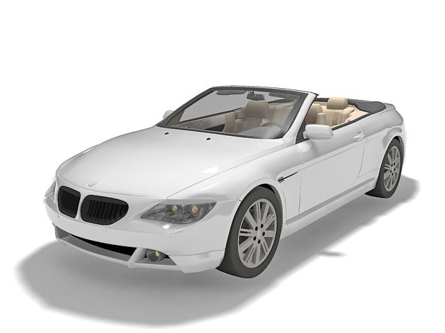 BMW Convertible sports car 3d rendering