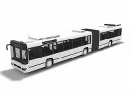 Articulated bus 3d preview
