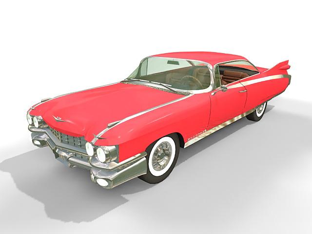 59 Cadillac Eldorado 3d rendering