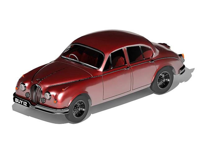 Old Jaguar model 3d rendering