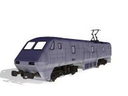 Intercity train 3d preview