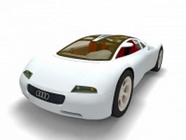 Audi RSQ concept car 3d model preview