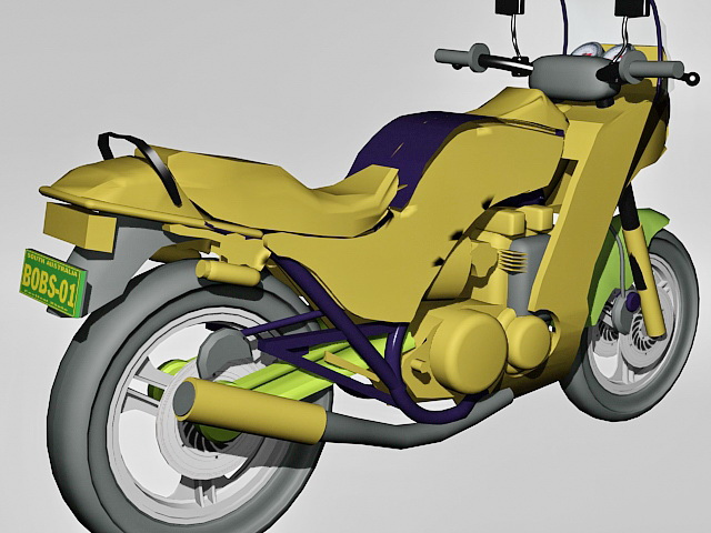 Kawasaki GPZ750 Turbo 3d rendering
