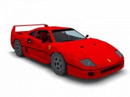 Ferrari F40 3d model preview