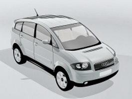 Audi A2 hatchback 3d preview